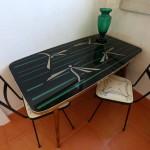 Tavolino 1950 ripiano in vetro