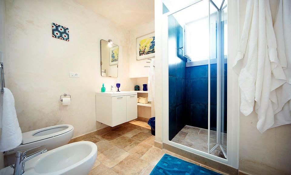 Bagno Suite del Viaggiatore nel B&B|Casa vacanze|Tana del Riccio|in Salento